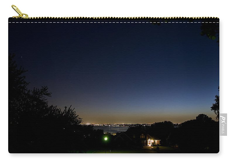 City Carry-all Pouch featuring the photograph City At Night by Charles Beeler