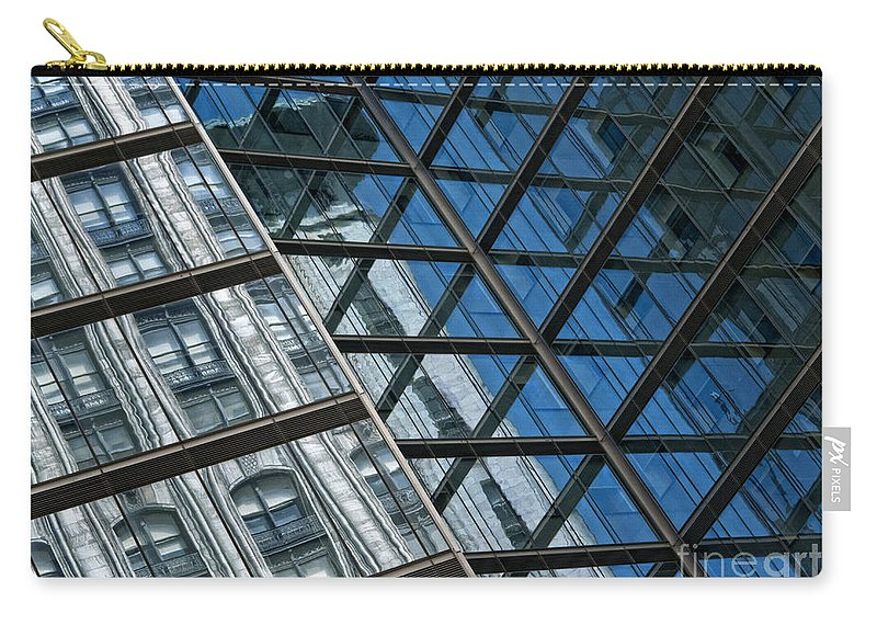 Architecture Carry-all Pouch featuring the photograph City Combo by Claudia Kuhn