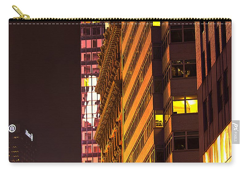 """new York City"" Carry-all Pouch featuring the photograph City Glow by Paul Mangold"