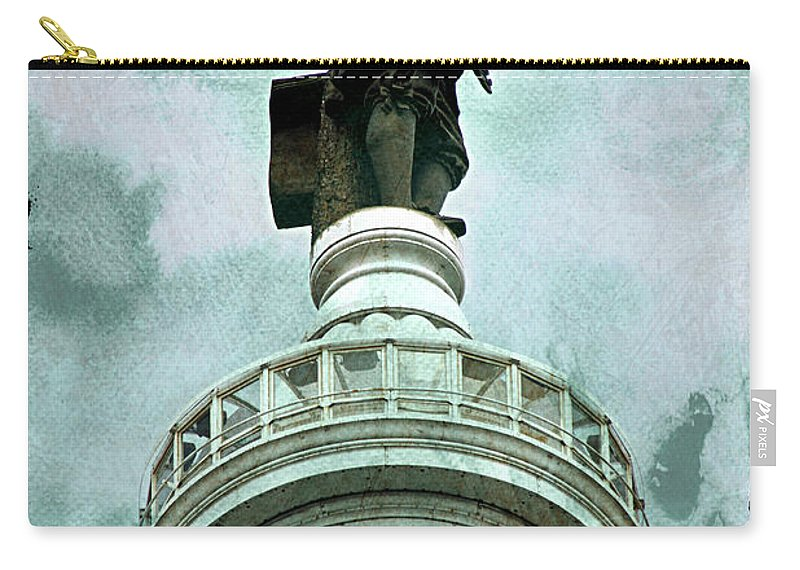 Billy Penn Carry-all Pouch featuring the photograph City Hall Billy by Alice Gipson