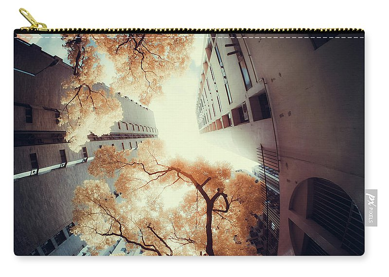 Tranquility Carry-all Pouch featuring the photograph City In Harmony With Nature by D3sign