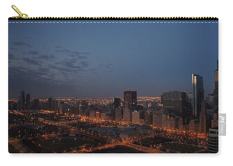 City Carry-all Pouch featuring the photograph City Lights At Dawn by Gregory Lafferty