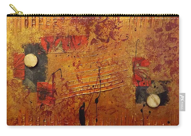 Abstract Carry-all Pouch featuring the painting City Lights by Darren Robinson