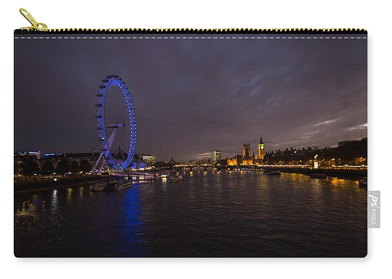 Westminster Carry-all Pouch featuring the photograph City Lights by Dawn OConnor