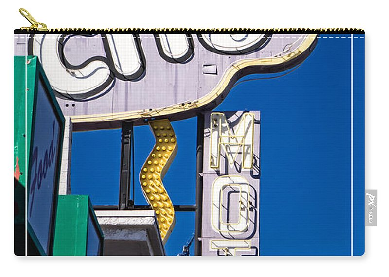 Motel Carry-all Pouch featuring the photograph City Motel Las Vegas by Edward Fielding