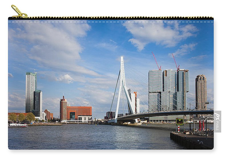Rotterdam Carry-all Pouch featuring the photograph City Of Rotterdam Cityscape In Netherlands by Artur Bogacki