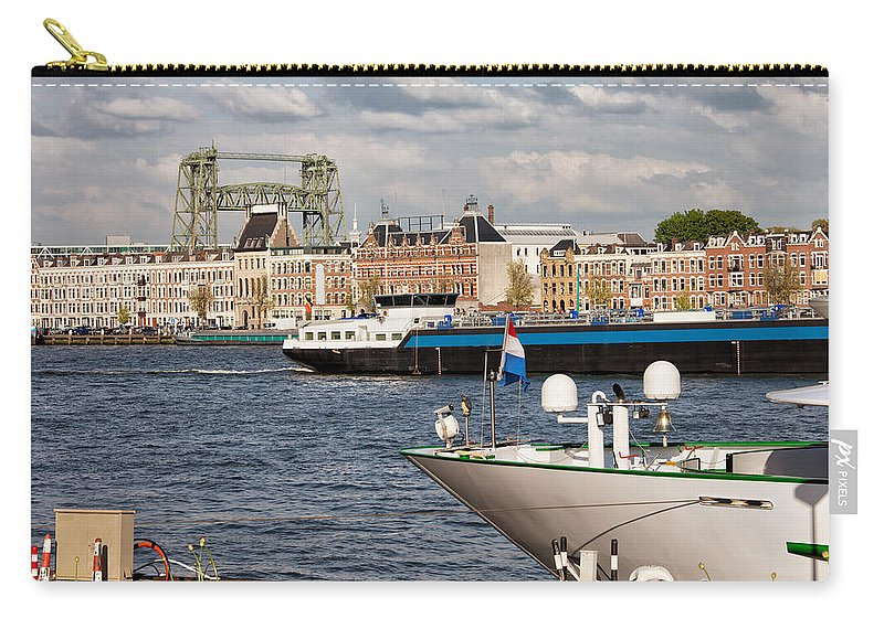 Rotterdam Carry-all Pouch featuring the photograph City Of Rotterdam Urban Scenery by Artur Bogacki