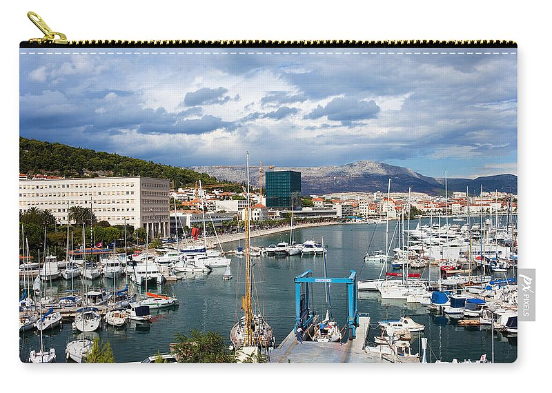 Split Carry-all Pouch featuring the photograph City Of Split Port In Croatia by Artur Bogacki