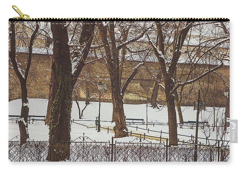 Background Carry-all Pouch featuring the photograph City Park by Pati Photography