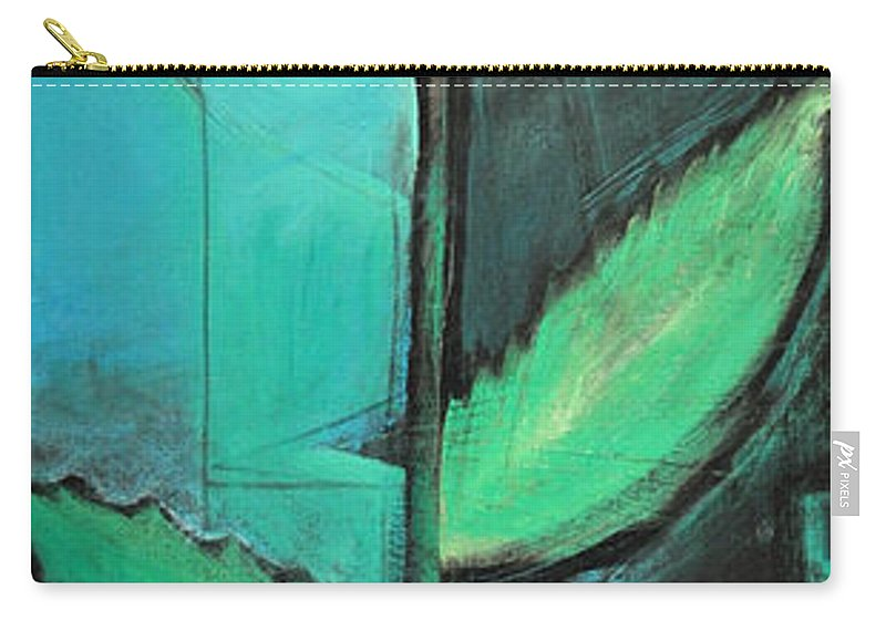 Rose Carry-all Pouch featuring the painting City Rose - Few Noticed by Tim Nyberg