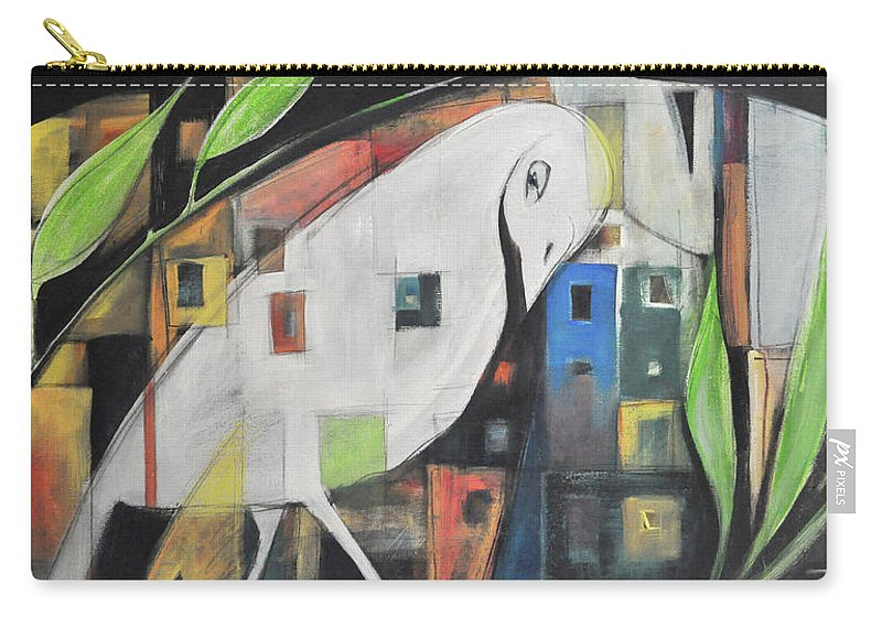 Bird Carry-all Pouch featuring the painting City Strut by Tim Nyberg