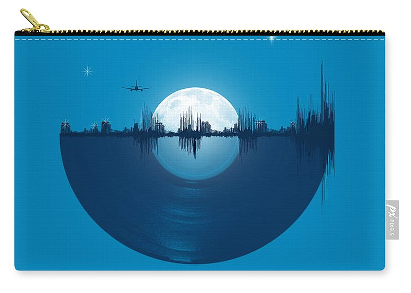 City Carry-all Pouch featuring the digital art City tunes by Neelanjana Bandyopadhyay