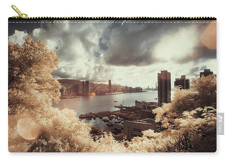 Treetop Carry-all Pouch featuring the photograph Cityscape In Dream by D3sign