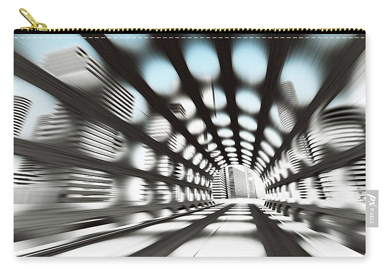 Outdoors Carry-all Pouch featuring the digital art Cityscape by Jorg Greuel