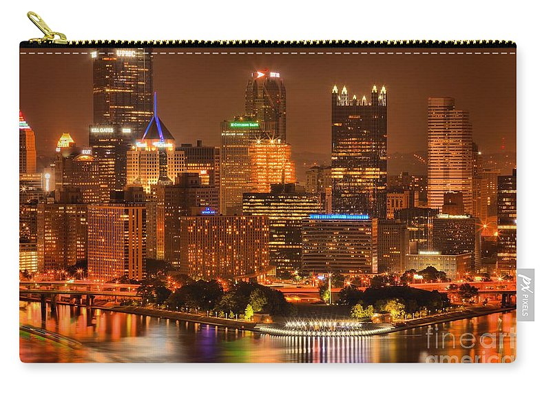 Pittsburgh Pennsylvania Carry-all Pouch featuring the photograph Cityscape Of Color by Adam Jewell