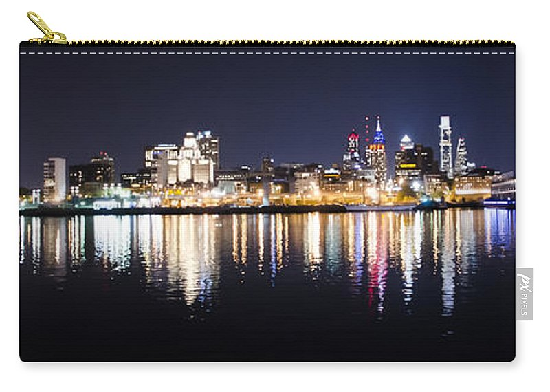 Cityscape Carry-all Pouch featuring the photograph Cityscape - Philadelphia by Bill Cannon