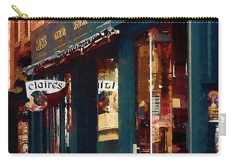Architecture Carry-all Pouch featuring the painting Claire's On College Street by RC DeWinter