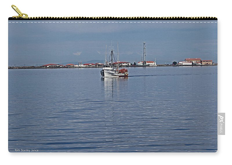 Lclallam Bay Carry-all Pouch featuring the photograph Clallam Bay by Tom Janca