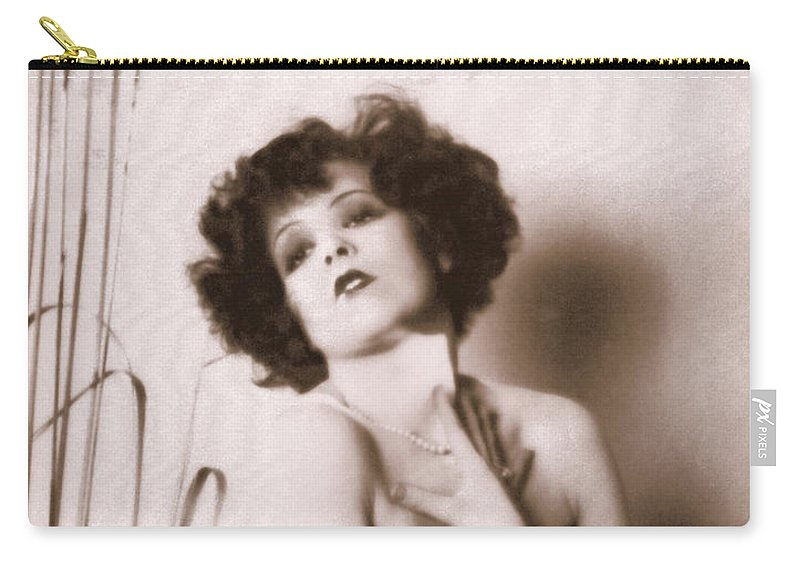 Clara Bow Carry-all Pouch featuring the photograph Clara Bow by Glenn Aker