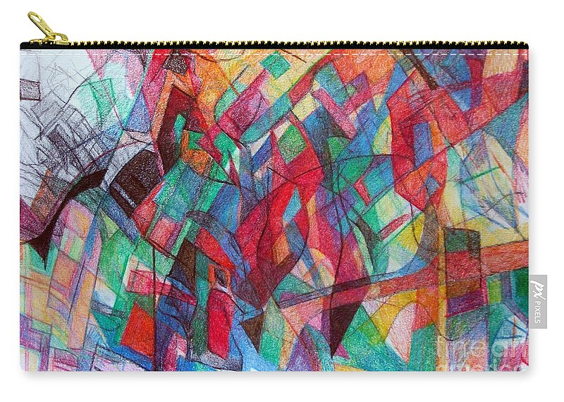 Torah Carry-all Pouch featuring the drawing Clarification 3 by David Baruch Wolk