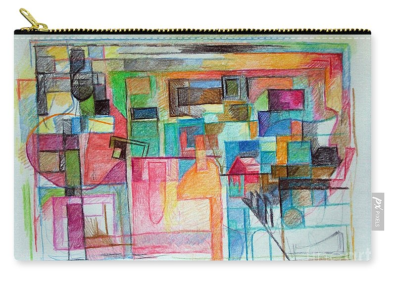 Torah Carry-all Pouch featuring the drawing Clarification 6 by David Baruch Wolk