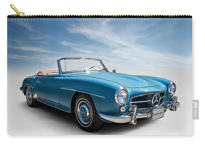 Mercedes Carry-all Pouch featuring the digital art Class Of '59 by Douglas Pittman