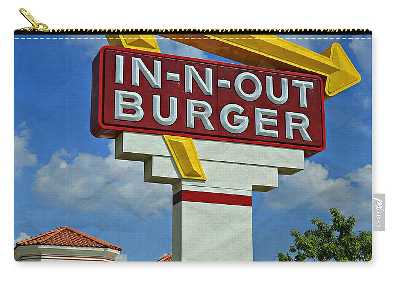50s Carry-all Pouch featuring the photograph Classic Cali Burger 1.1 by Stephen Stookey