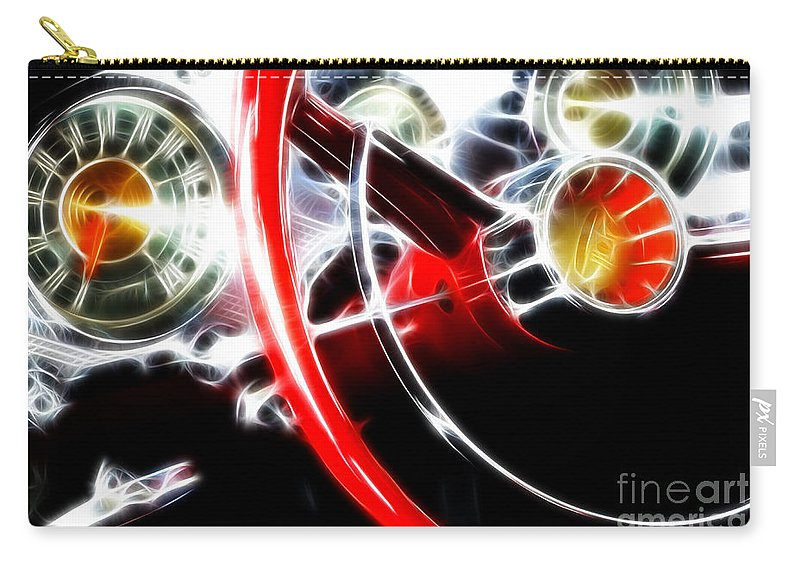 Car Shows Carry-all Pouch featuring the photograph Classic Cars Beauty By Design 4 by Bob Christopher