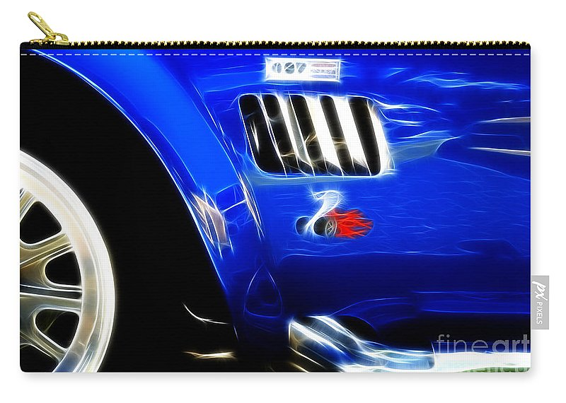 Car Shows Carry-all Pouch featuring the photograph Classic Cars Beauty By Design 6 by Bob Christopher