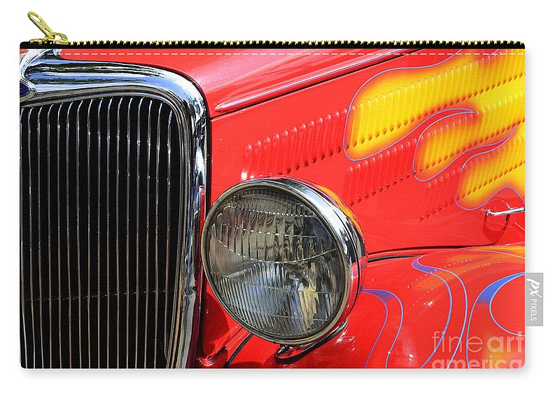 Car Shows Carry-all Pouch featuring the photograph Classic Cars Beauty By Design 8 by Bob Christopher