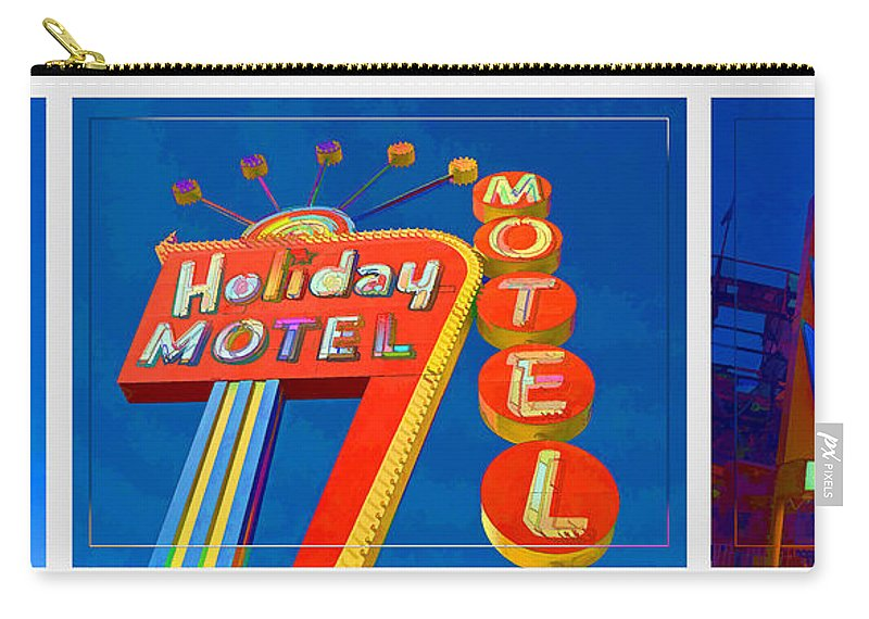 Neon Carry-all Pouch featuring the photograph Classic Old Neon Signs by Edward Fielding