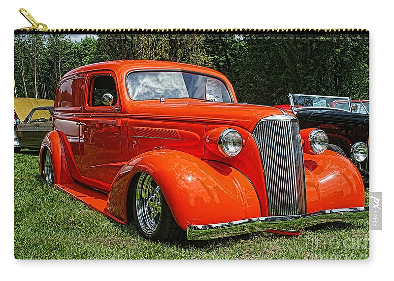 Cars Carry-all Pouch featuring the photograph Classic Orange by Randy Harris