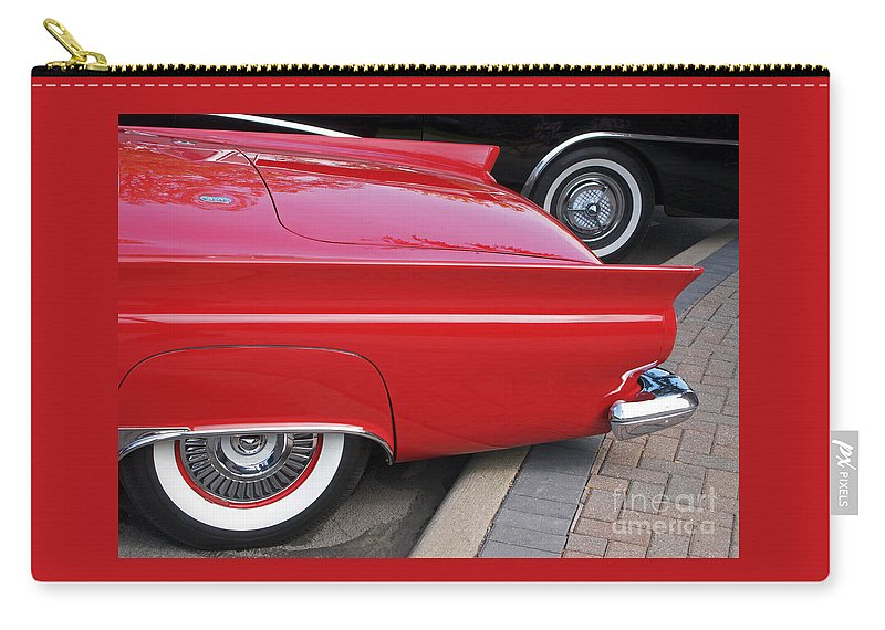 Classic Car Carry-all Pouch featuring the photograph Classic Red And Black by Ann Horn