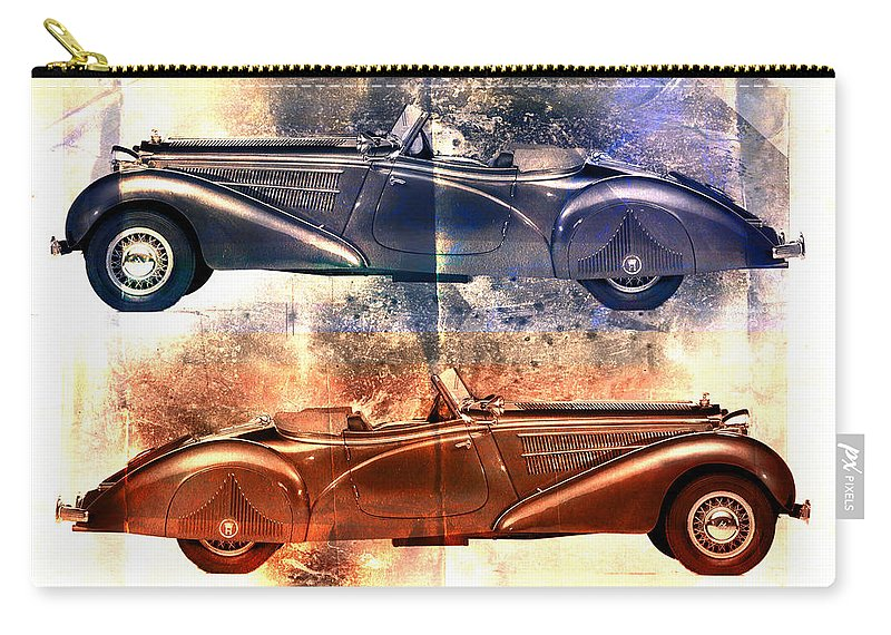 Car Carry-all Pouch featuring the photograph Classic Tourer by David Ridley