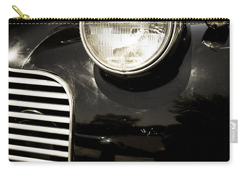 Automobile Carry-all Pouch featuring the photograph Classic Vintage Car Black And White by Edward Fielding