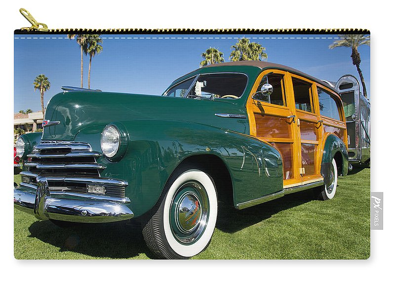 Chevrolet Carry-all Pouch featuring the photograph Classic Woodie by Doug Matthews