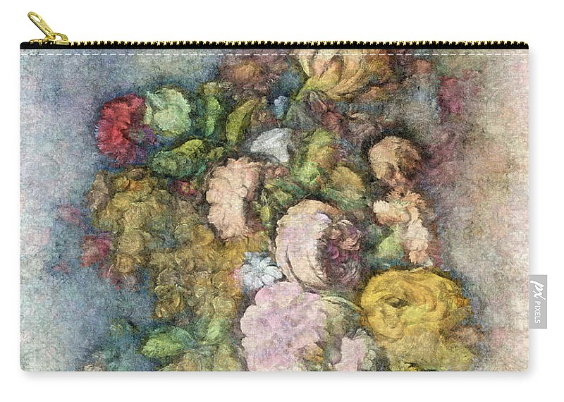 Flowers Carry-all Pouch featuring the digital art Classical Bouquet - V01c by Variance Collections