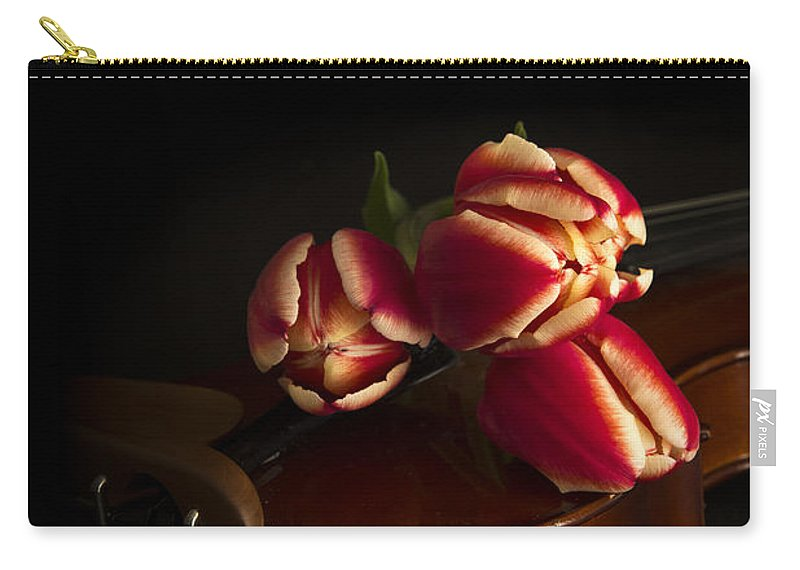 Floral Carry-all Pouch featuring the photograph Classical Romance by Edward Fielding
