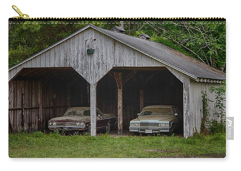 Cadillac Carry-all Pouch featuring the photograph Classics In Waiting by Guy Shultz
