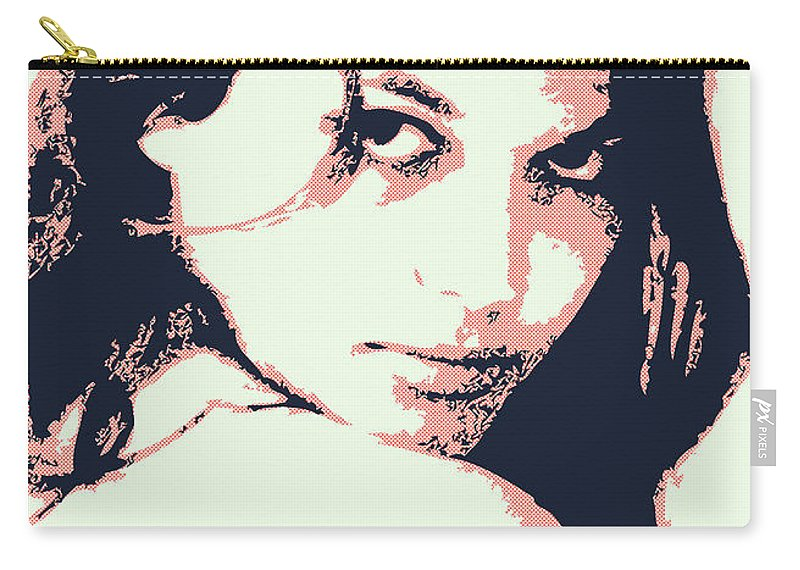 Claudia Carry-all Pouch featuring the digital art Claudia C by Chungkong Art