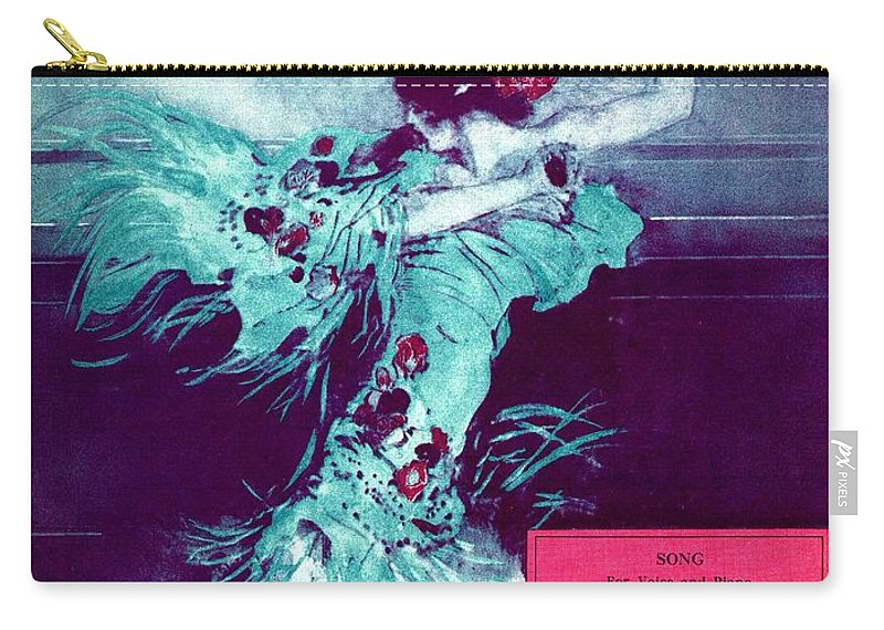Nostalgia Carry-all Pouch featuring the photograph Clavelitos by Mel Thompson