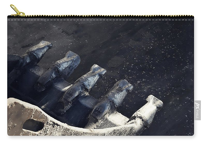 Photography Carry-all Pouch featuring the photograph Claw - Industrial Photography By Sharon Cummings by Sharon Cummings
