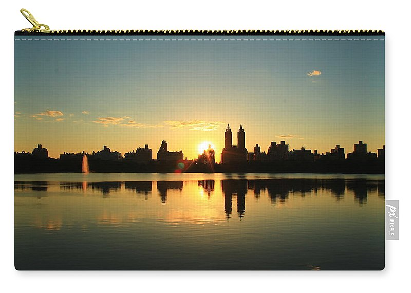 Central Park Carry-all Pouch featuring the photograph Clear And Smooth by Catie Canetti