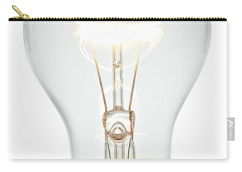 Bulb Carry-all Pouch featuring the photograph Clear Light Bulb by Olivier Le Queinec