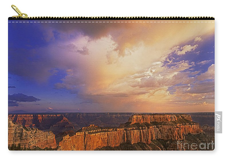 Grand Canyon Carry-all Pouch featuring the photograph Clearing Storm Cape Royal North Rim Grand Canyon Np Arizona by Dave Welling