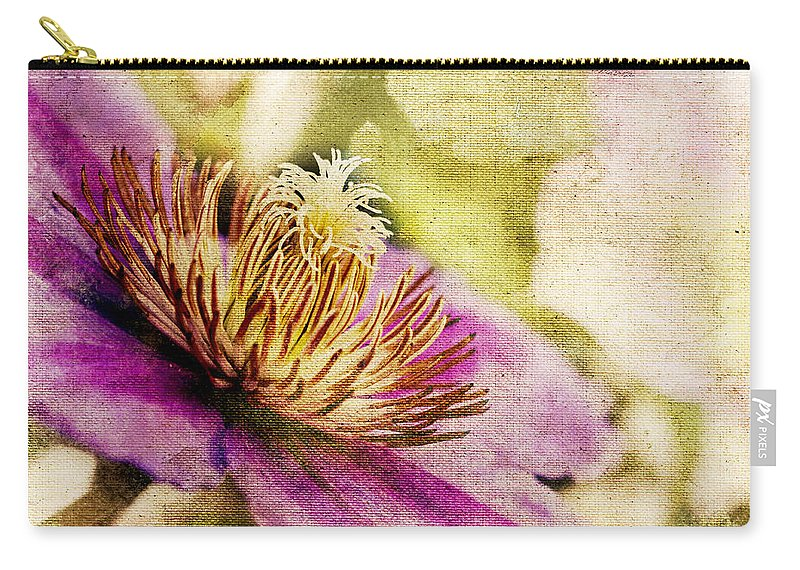 Clematis Carry-all Pouch featuring the photograph Clematis Closeup by Pam Holdsworth