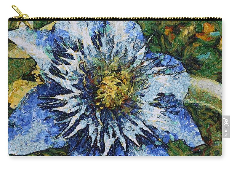 Bloom Carry-all Pouch featuring the painting Clematis by Jeffrey Kolker