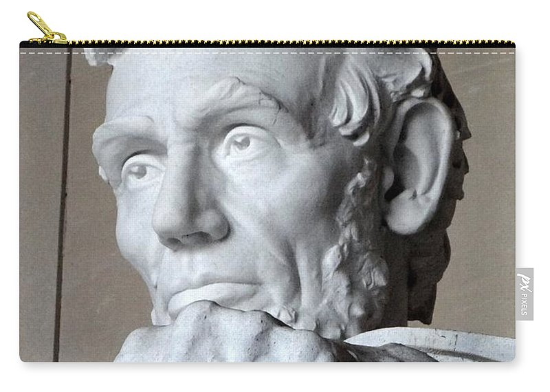 Lincoln Memorial Carry-all Pouch featuring the photograph Clenched Fist by Ed Weidman