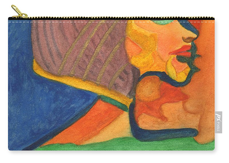 Cleopatra Carry-all Pouch featuring the painting Cleo by Phyllis Brady