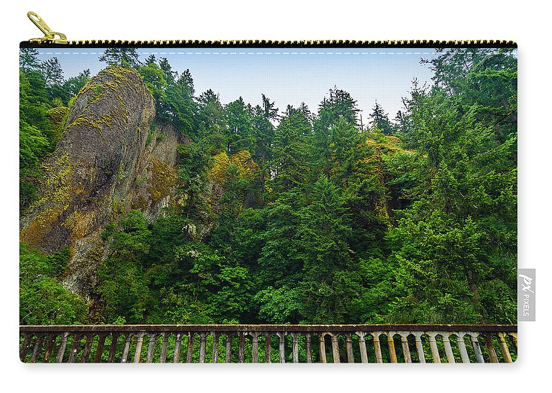 Nature Carry-all Pouch featuring the photograph Cliffs High Above Road by Jess Kraft